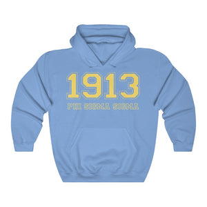 Phi Sigma Sigma Founding Year Hoodie (Carolina Blue)