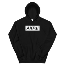 "Load image into Gallery viewer, Alpha Kappa Psi ""AKPsi"" Block Hoodie (Black)"
