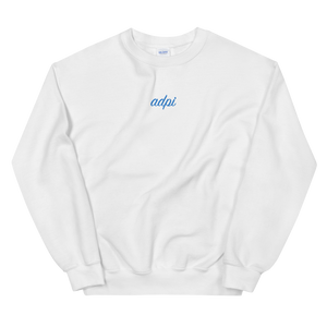 "Alpha Delta Pi ""adpi"" Embroidered Script Sweatshirt"