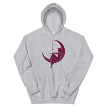 "Load image into Gallery viewer, Lambda Theta Alpha ""Lady on the Moon"" Hoodie (Sport Grey)"