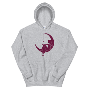 "Lambda Theta Alpha ""Lady on the Moon"" Hoodie (Sport Grey)"