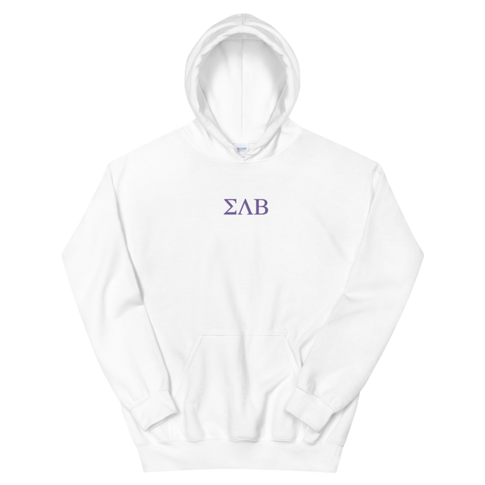 Sigma Lambda Beta Letters Embroidered Hoodie
