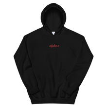 "Load image into Gallery viewer, Alpha Omicron Pi ""alpha o"" Embroidered Script Hoodie"