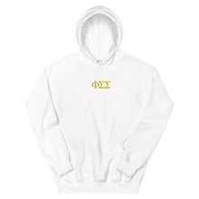 Load image into Gallery viewer, Phi Sigma Sigma Official Letters Embroidered Hoodie (White)