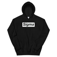 Load image into Gallery viewer, Black Tri Sigma Supreme Box Logo Hoodie