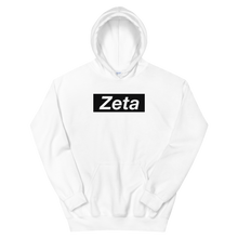 "Load image into Gallery viewer, Zeta Tau Alpha ""Zeta"" Block Hoodie (White)"