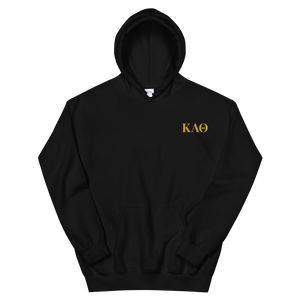 Kappa Alpha Theta Official Letters Embroidered Hoodie (Black)