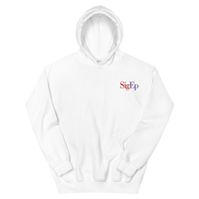 Load image into Gallery viewer, Sigma Phi Epsilon SigEp Logo Embroidered Hoodie (White)