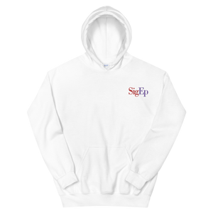 Sigma Phi Epsilon SigEp Logo Embroidered Hoodie (White)