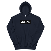 "Load image into Gallery viewer, Alpha Kappa Psi ""AKPsi"" Block Hoodie (Navy Blue)"