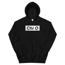 "Load image into Gallery viewer, Chi Omega ""Chi O"" Block Hoodie (Black)"
