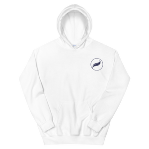 Alpha Xi Delta Quill Embroidered Hoodie (White/Navy)
