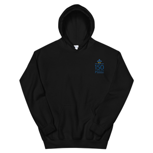 Kappa Kappa Gamma Limited Edition 150th Anniversary Embroidered Hoodie (Black)