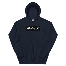 "Load image into Gallery viewer, Alpha Xi Delta ""Alpha Xi"" Block Hoodie (Navy)"