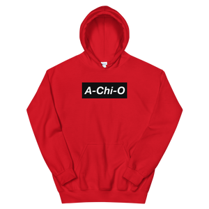 "Alpha Chi Omega ""A-Chi-O"" Block Hoodie (Red)"