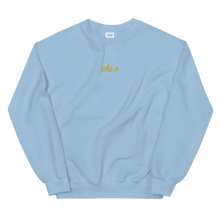 "Load image into Gallery viewer, Chi Omega ""chi o"" Embroidered Script Sweatshirt"