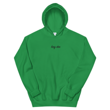 "Load image into Gallery viewer, Kappa Delta ""kay dee"" Embroidered Script Hoodie (Green)"