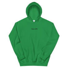 "Load image into Gallery viewer, Kappa Delta ""kappa delta"" Embroidered Script Hoodie (Irish Green)"