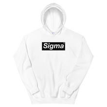 Load image into Gallery viewer, White Tri Sigma Supreme Box Logo Hoodie