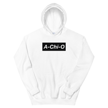 "Load image into Gallery viewer, Alpha Chi Omega ""A-Chi-O"" Block Hoodie (White)"