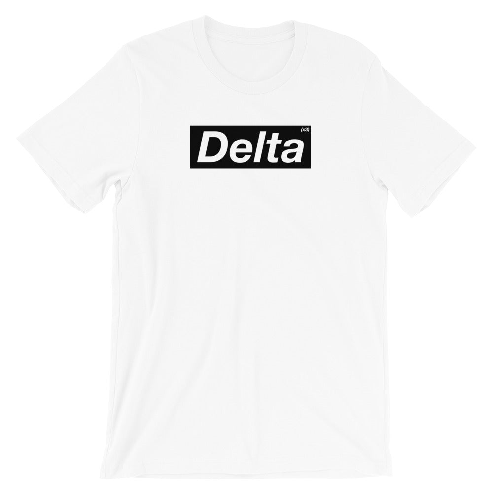 White Tri Delta Supreme Box Logo Shirt