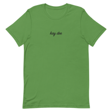"Load image into Gallery viewer, Kappa Delta ""kay dee"" Embroidered Script Shirt (Leaf Green)"