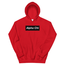 "Load image into Gallery viewer, Alpha Chi Omega ""Alpha Chi"" Block Hoodie (Red)"