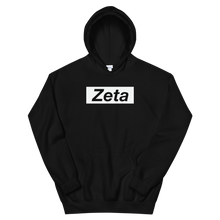 "Load image into Gallery viewer, Zeta Tau Alpha ""Zeta"" Block Hoodie (Black)"