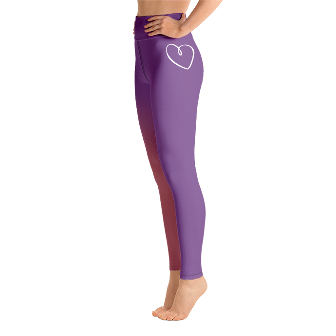 Sigma Kappa Heart Yoga Leggings