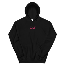 Load image into Gallery viewer, Sigma Lambda Gamma Letters Embroidered Hoodie
