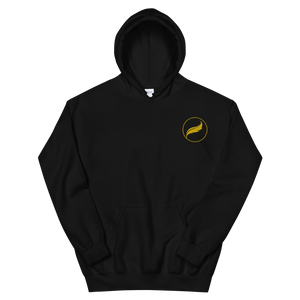 Alpha Xi Delta Quill Embroidered Hoodie (Black/Gold)