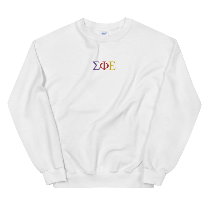 Sigma Phi Epsilon Official Greek Letters Embroidered Sweatshirt