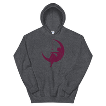"Load image into Gallery viewer, Lambda Theta Alpha ""Lady on the Moon"" Hoodie (Dark Heather)"