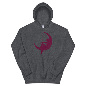 "Lambda Theta Alpha ""Lady on the Moon"" Hoodie (Dark Heather)"