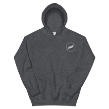 Load image into Gallery viewer, Alpha Xi Delta Quill Embroidered Hoodie (Dark Heather)
