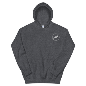 Alpha Xi Delta Quill Embroidered Hoodie (Dark Heather)