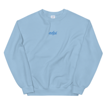 "Load image into Gallery viewer, Alpha Delta Pi ""adpi"" Embroidered Script Sweatshirt"