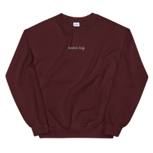 "Load image into Gallery viewer, Lambda Theta Alpha ""lambda lady"" Embroidered Script Sweatshirt"