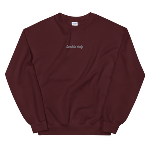 "Lambda Theta Alpha ""lambda lady"" Embroidered Script Sweatshirt"