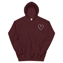 "Load image into Gallery viewer, Sigma Kappa ""Heart"" Embroidered Hoodie (Maroon)"