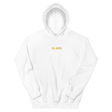 "Load image into Gallery viewer, Delta Delta Delta ""tri delta"" Embroidered Script Hoodie"