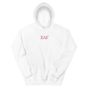 Sigma Lambda Gamma Letters Embroidered Hoodie