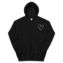"Load image into Gallery viewer, Sigma Kappa ""Heart"" Embroidered Hoodie (Black)"