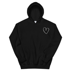 "Sigma Kappa ""Heart"" Embroidered Hoodie (Black)"