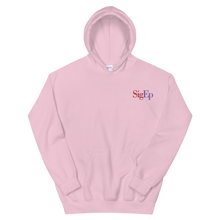 Load image into Gallery viewer, Sigma Phi Epsilon SigEp Logo Embroidered Hoodie (Light Pink)