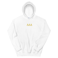 Load image into Gallery viewer, Delta Delta Delta Letters Embroidered Hoodie (White)