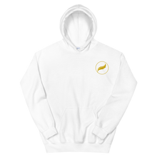 Load image into Gallery viewer, Alpha Xi Delta Quill Embroidered Hoodie (White/Gold)