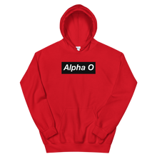 "Load image into Gallery viewer, Alpha Omicron Pi ""Alpha O"" Block Hoodie (Red)"