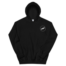 Load image into Gallery viewer, Alpha Xi Delta Quill Embroidered Hoodie (Black)