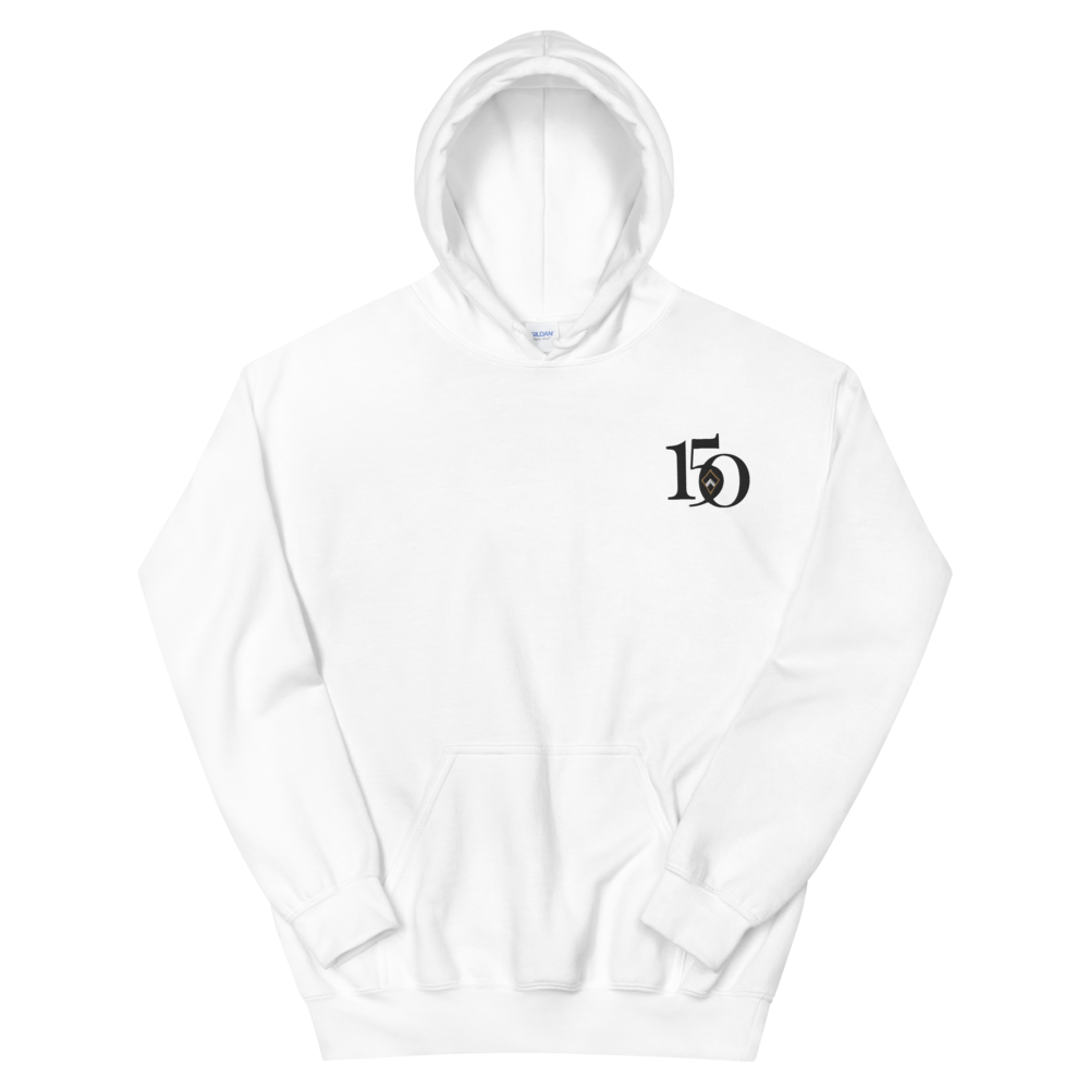 Kappa Alpha Theta Limited Edition 150th Anniversary Embroidered Hoodie (White)